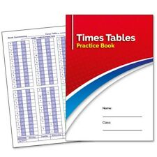 School Times Table Practice Book Diary Planner Maths Multiplication Childrens A5