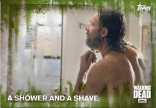 Walking Dead Season 5 Mold Parallel Base Card #71 A SHOWER AND A SHAVE