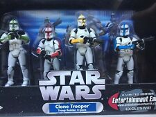 Star Wars Clone Trooper Builder 4 pack Colored Limited Entertainment Earth NRFB
