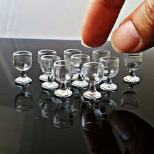 Dollhouse Miniatures Clear Cup Glass Wine Juice Tiny Tableware Wholesale Lotx10