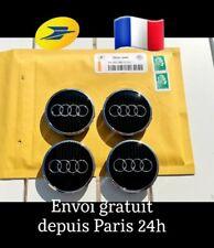 4 Centres de roue cache moyeu Noir 61mm AUDI A1 A2 A3 A4 A5 A6 A7 TT 4M0601170