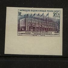 French Equitorail Africa 202 mint Nh imperforate Kel1202