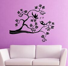 Wall Stickers Vinyl Decal Tree Branch Nature Bird Room Decor (ig1786)
