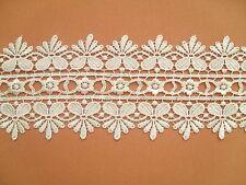 "Ivory Guipure Venise Lace Trim Satin Soft   3"" Craft Bride Wedding"
