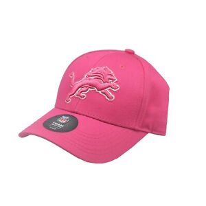 Detroit Lions Official NFL Kids Girls Size (4-6X) OSFM Adjustable Pink Hat Cap