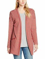 BNWT WOMENS SANDWICH DOUBLE FACE JERSEY STRIPED CARDIGAN RED STONE UK 12