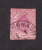 Luxembourg stamp #8, used, imperf, 1859 - 1864, SCV $160.00