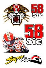 Kit Simoncelli Marco moto superSIC 58 adesivo stickers motogp adesivi caricatura