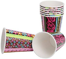 Amscan 8 Pack HIPPIE CHICK Birthday Paper Drinking Cups Party Table 9oz
