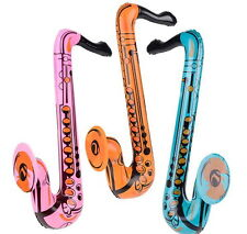 "1 Inflatable Saxophone 24"" Party Favor Karaoke Goody Bag Gift Saxophones Hot!"