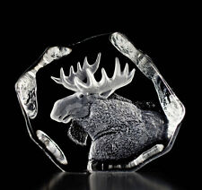 Mats Jonasson Moose Crystal Sculpture/Statue/Figurine 33750- Brand New!