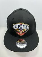 New Era NBA 9FIFTY Black SnapBack Flat Bill Cap New Orleans Pelicans, NEW!