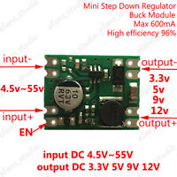 DC-DC Buck Step Down Converter Regulator Power Supply Module 3.3v 5v 9v 12v