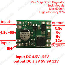 DC-DC Buck Step Down Voltage Converter Mini Power Supply Module 3.3v 5v 9v 12v