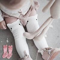 Qu/_ Kids Baby Girls Knee High Long Cotton Warm Tights Socks Stockings Cartoon Ra