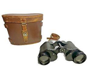 Magna Binoculars | No. 114365 | 8X30 | Made in Occupied Japan w/ Leather case