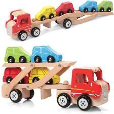 TRANSPORTER auto di legno giocattoli quattro auto veicolo Play Kids Bambini Indoor Outdoor