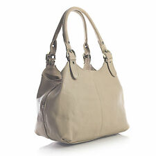 Ladies Women Classic Faux Leather Plain Multi Pocket Tote shoulder Bag Handbag