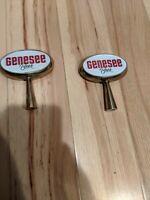2 GENESEE BEER TAP HANDLES GENNY Metal Vintage