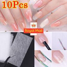 10Pcs UK Magic Nail Art Non-woven Silk Fiberglass UV Gel Tips Extension Fiber