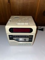 VTG Lloyds CR201 FM AM Clock Radio Cassette Player Original Cube 1980's - TESTED