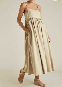 Seed Heritage Sustainable Stripe Dress beige colour size 8