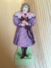 Vintage Victorian 2 Sided Paper Doll with 3 Interchangeable Heads Each side
