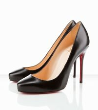 Christian Louboutin Elisa Pump 100m Kid Leather Black 10 41.5 EUC