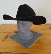 Vintage Fincher s Long Oval Black Wool Cowboy Hat Size - 6 3 4 Made In c6766eefc17a