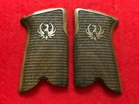 RUGER P85 P89 P90 P91 walnut wood grips set CHECKERED