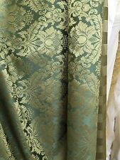 GREEN GOLD Damask Jacquard Brocade Flower Floral Fabric (110 in.) Sold BTY