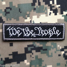 WE THE PEOPLE TAB USA MILITARY TACTICAL ARMY MORALE BADGE SWAT DARK HOOK PATCH