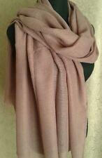 Ladies Pink Waffle Knit Scarf Shawl Blanket Wrap Stole  BNWT