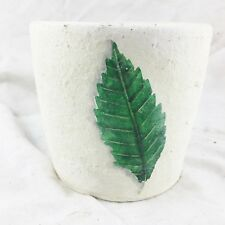 VINTAGE ACORN LEAF PLANT POT HOLDER PLANTER POTTERY