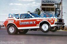 "Wally Booth 1971 AMC ""Gremlin-X"" Gremlin Pro Stocker 8x10 PHOTO!"