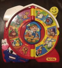 Fisher Price See N Say The Farmer Says Toy 16 Animals Sounds Plus Music & Quiz