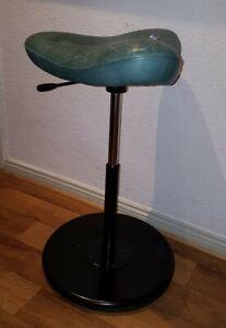 Stokke Varier -Move56-82cm Schreibtischstuhl Stehhilfe Hocker Stuhl türkis/grün