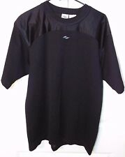 Athletic Works Mens Black Sports Short Sleeve Top Size M Netted EUC