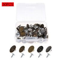 50PCS Metal Instant Buttons&Nails Replacement for Suspender Clothes Jeans Coat