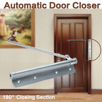 Stainless Steel Door Closer Adjustable Surface Mounted Automatic Spring Buffer