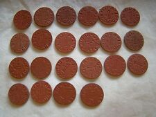 Set of 22 Opa Red Point 1 Ration Tokens All Different Letters World War II