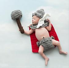 Newborn Baby Girl Boy Crochet Knit Thor Avenger Costume Photo Photography Prop