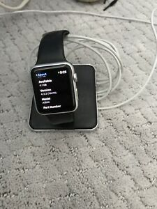 Apple Watch 42mm Stainless Steel Case Black Sport Band - (MJ3V2LL/A)