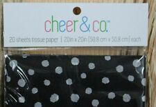 NIP Black & white polka dot tissue paper - 2 packages