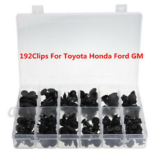 Set of 192 Clips Automotive Push Pin Retainer Assortment Kit For Toyota Honda GM