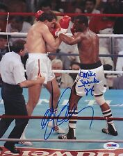 GERRY COONEY MIKE SPINKS Dual Signed Autograph 8x10 Picture Photo Boxing PSA/DNA