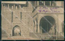 Milano Città Castello Sforzesco ABRASA cartolina XB5078