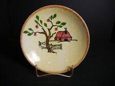"Southern Potteries Blue Ridge: Sweet ""Red Barn"" Fruit Bowl (2683)"