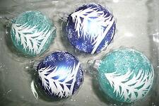 Christbaumkugel Weihnachtskugel Christbaumschmuck Krebs blau silber weiß türkis