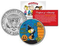 Peanuts SALLY WITCH TRICK OR TREAT Halloween JFK Half Dollar U.S. Coin LICENSED